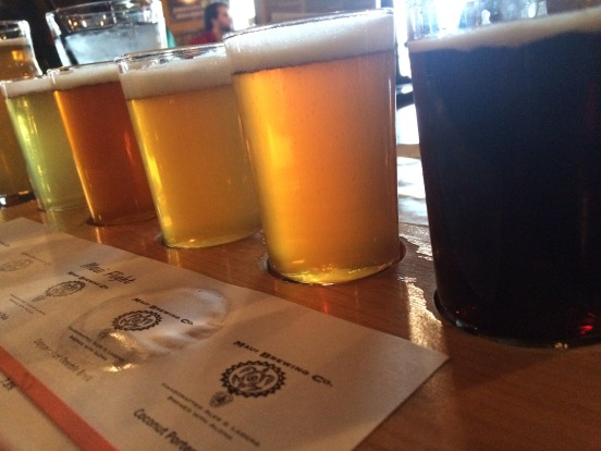 The Maui Brewing Co. beer flight